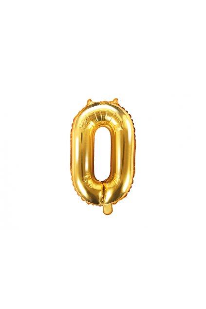 Fóliový balónek číslo 0 - zlatý 35cm
