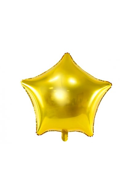 Fóliový balónek 48cm - Hvězda zlatá
