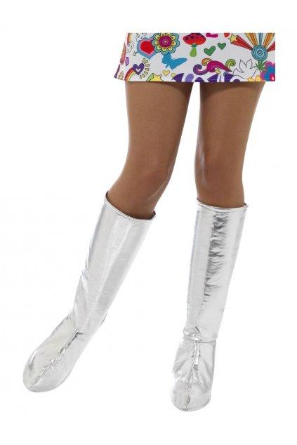 GoGo boot covers - stříbrné