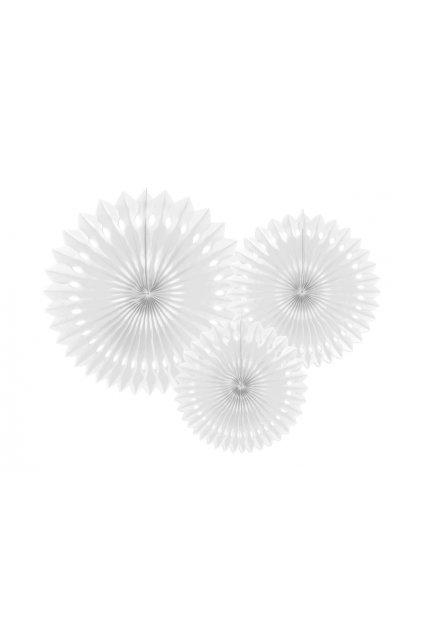 Rozety závěsná dekorace 3ks - bílá