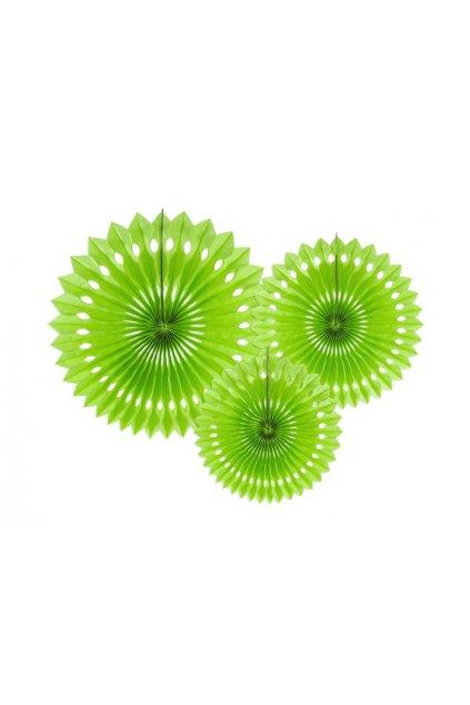 Rozety závěsná dekorace 3ks - zelená