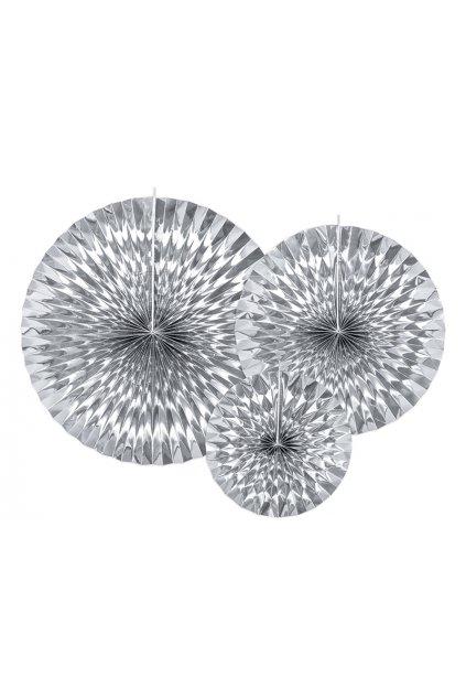 Velké stříbrné rozety 3ks