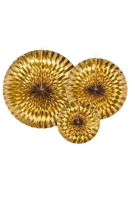 Velké zlaté rozety 3ks