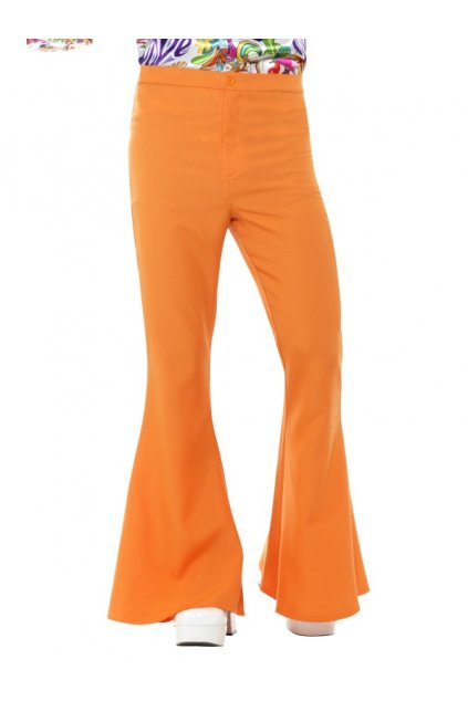 Pánské retro zvonáče - oranžové