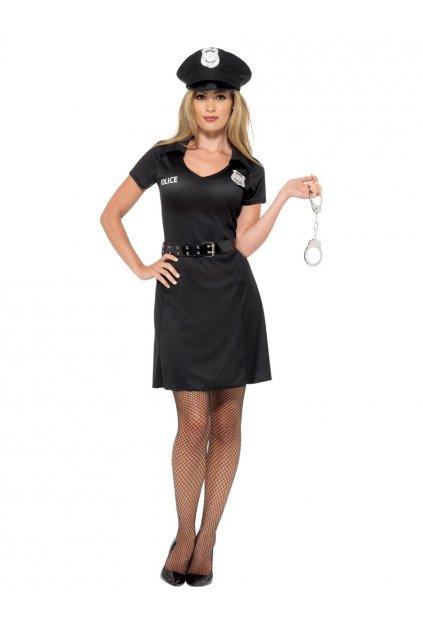 Policistka - dámský kostým černý