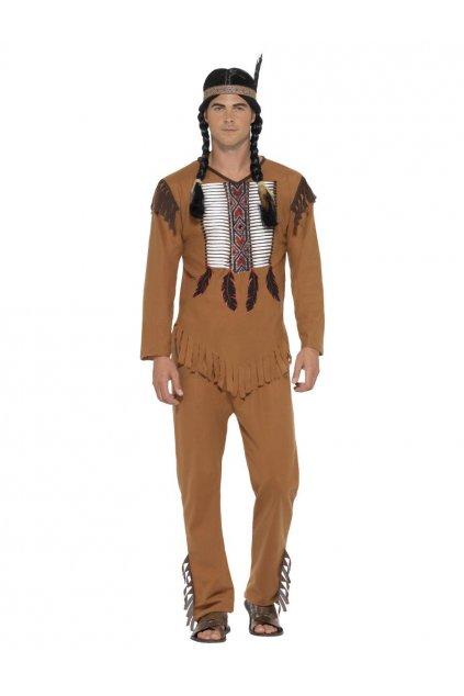 Pánský kostým Indián s čelenkou