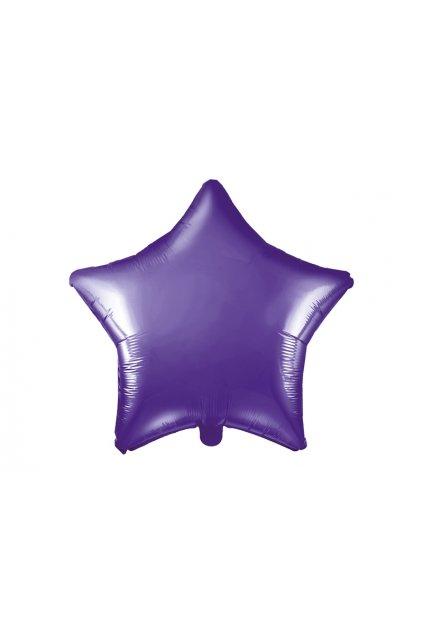 Fóliový balónek 48cm - Hvězda fialová