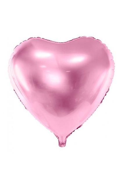 Fóliový balónek 45cm - Srdce sv. růžové