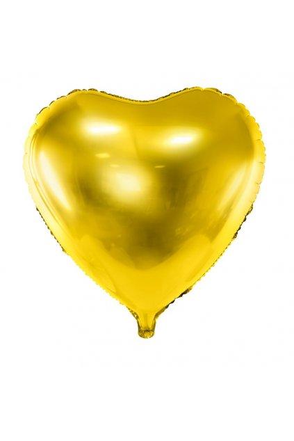 Fóliový balónek 45cm - Srdce zlaté
