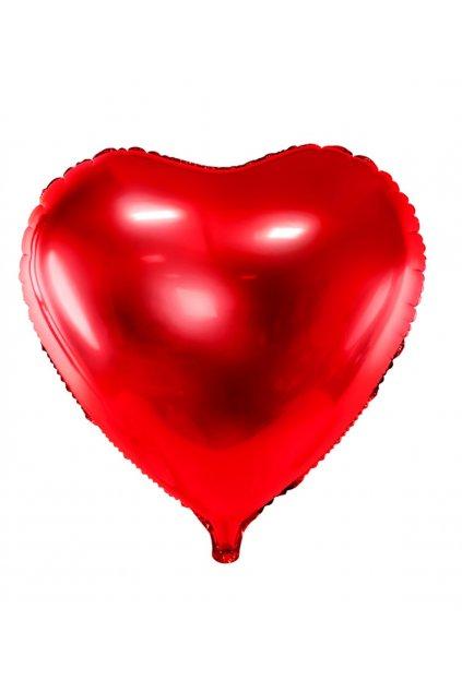 Fóliový balónek 45cm - Srdce červené