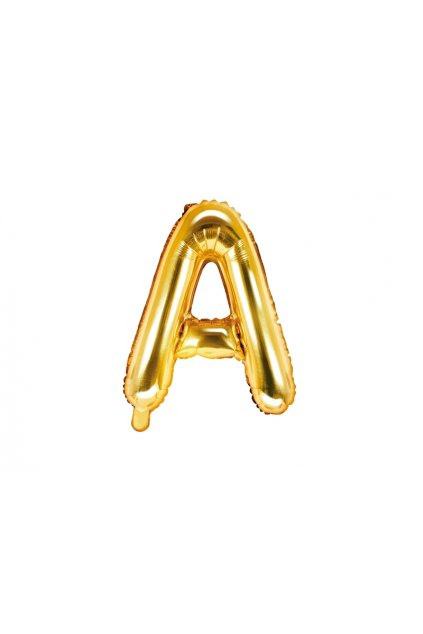 Fóliový balónek písmeno A - zlatý 35cm
