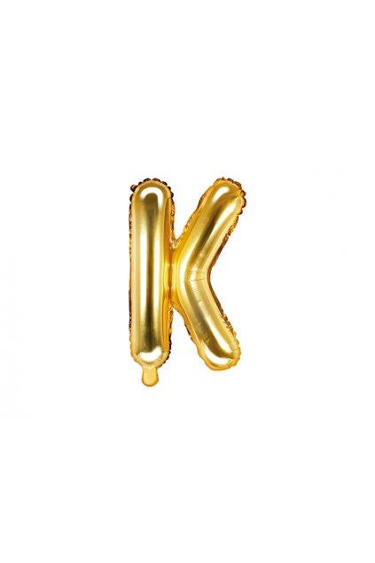 Fóliový balónek písmeno K - zlatý 35cm