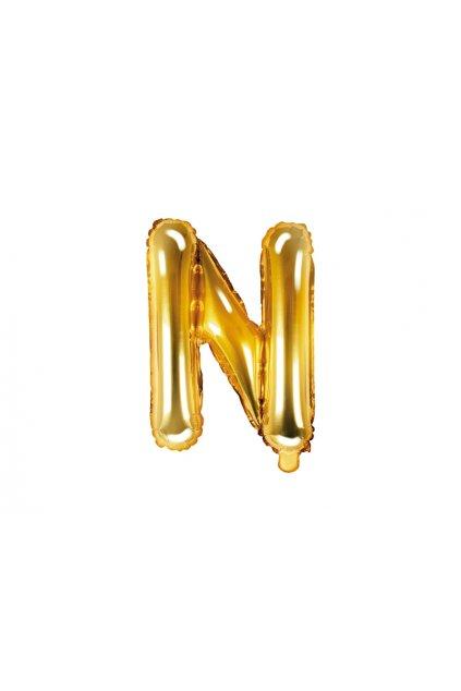 Fóliový balónek písmeno N - zlatý 35cm