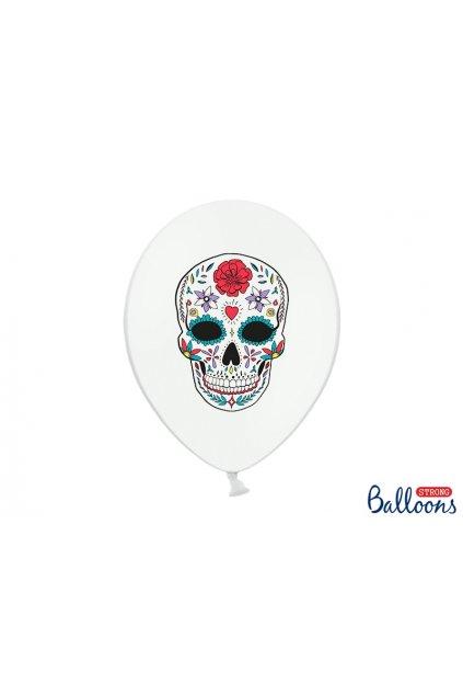 Nafukovací balónky - Dia de los Muertos - bílý