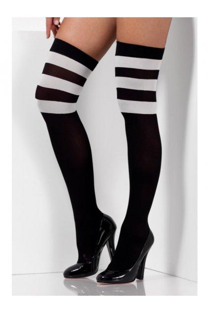 Černobílé nadklolenky cheerleader