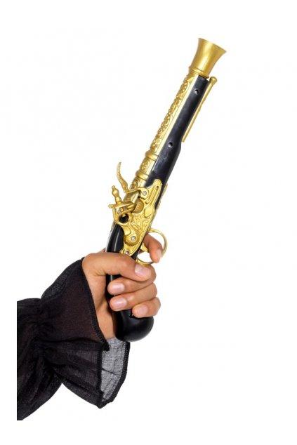 Pirátská pistole zlatá