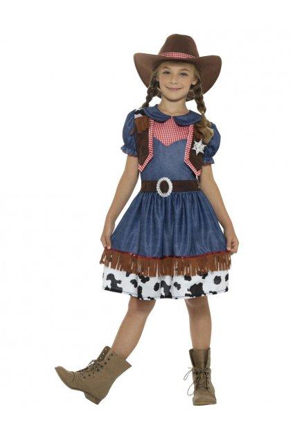 Dětský kostým kovbojky deluxe