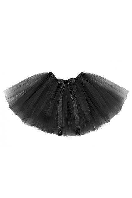 Tylová sukně - bohatá - černá