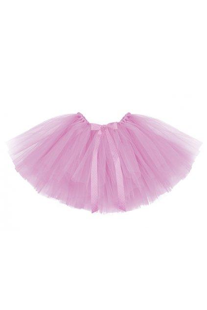 Tylová sukně - bohatá - růžová
