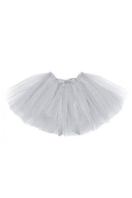 Tylová sukně - bohatá - šedá