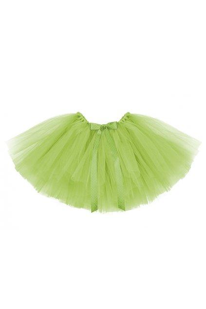 Tylová sukně - bohatá - zelená