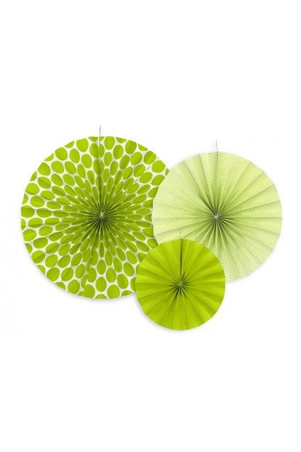 Rozety - závěsná dekorace 3 ks - zelené