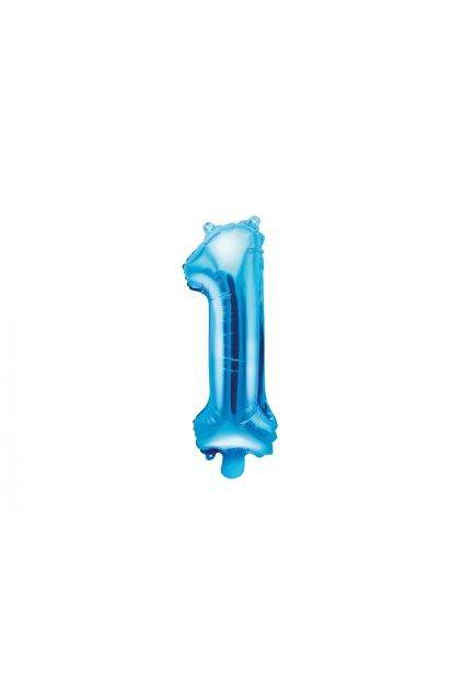 Balónek fóliový narozeniny číslo 1 - modrý