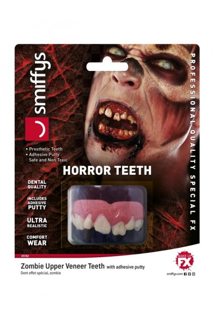 Umělé zuby - zombie - realistické