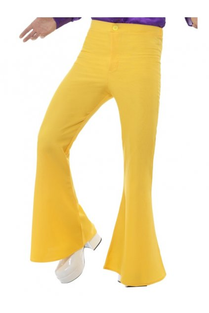Zvonové kalhoty žluté