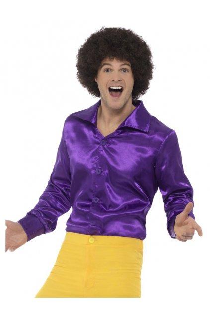 Retro košile fialová
