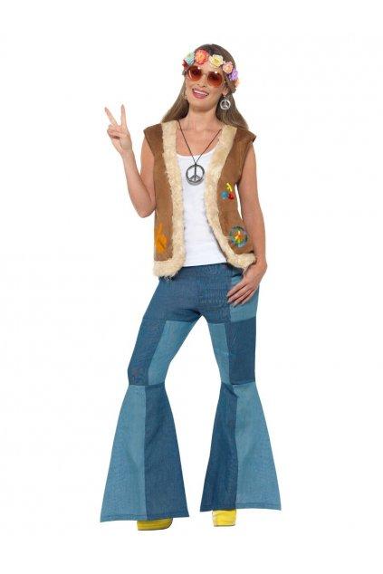 Hippie vesta s kožešinou