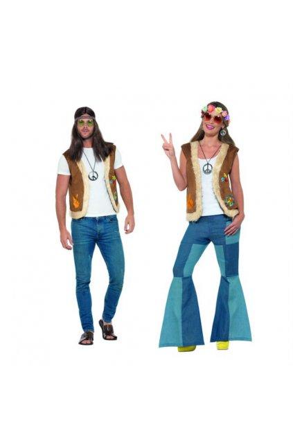 Hippie vesta s umělou kožešinou