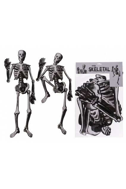 Kostlivec 135cm - závěsná dekorace na Halloween