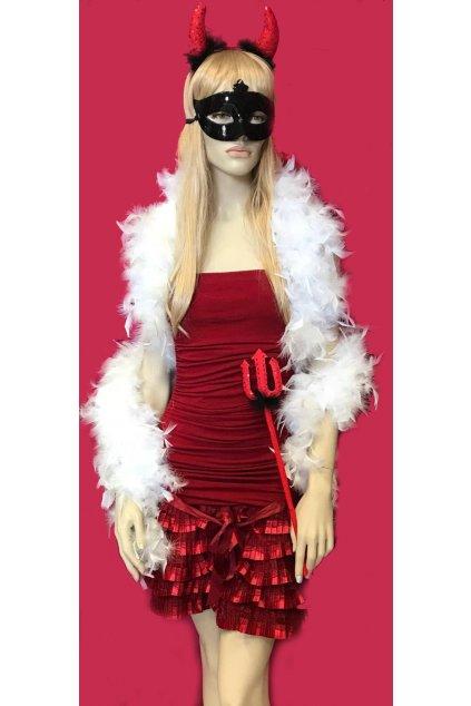 Červené šaty s mašlí
