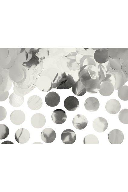 Párty konfety - stříbrné