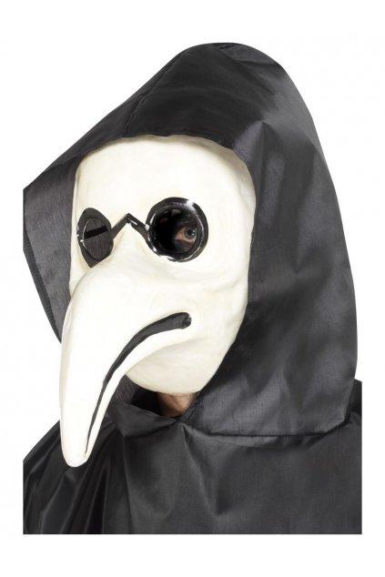 Morový doktor - bílá maska