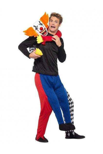 Kostým - klaun únosce - piggyback