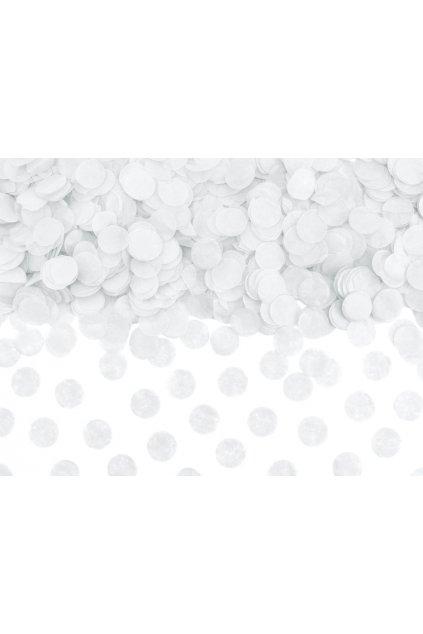 Papírové konfety - bílé