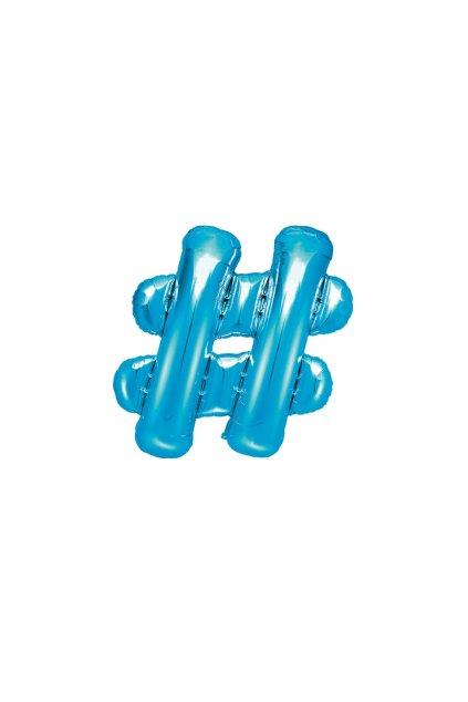 Balónek foliový - Hashtag modrý