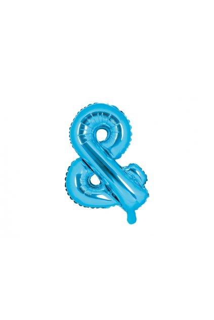 Balónek foliový - & symbol modrý