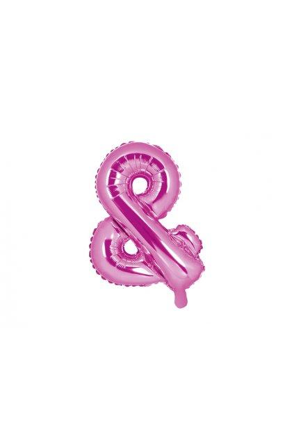 Balónek foliový - & symbol růžový