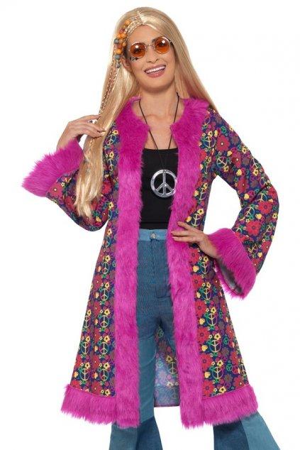 Dámský kabát ve stylu 60. let - Psychedelic Hippie