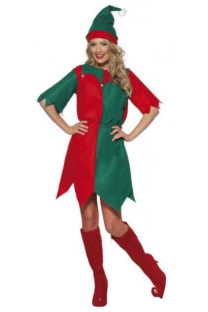 Vánoční kostým - elfka