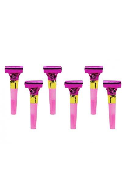 Párty frkačka růžová - 6ks