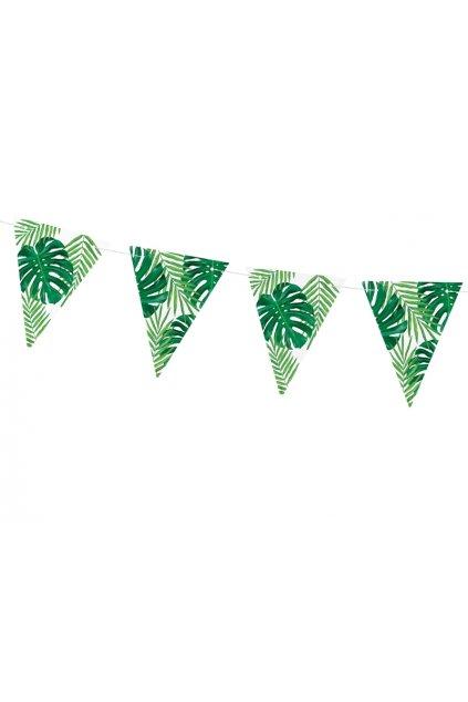 Aloha - girlanda zelené listy 1,3m