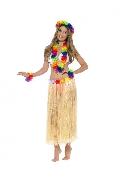 Havajská sada - věnec, čelenka, náramky