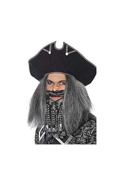 Černý pirátský klobouk