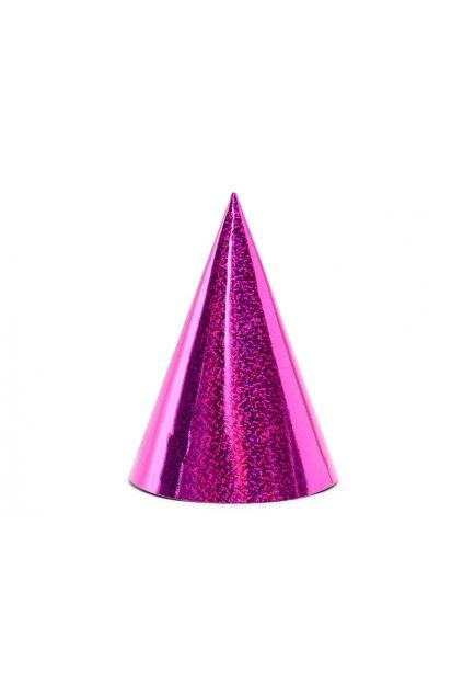 Párty čepice 6ks - růžová