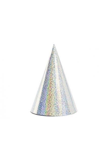 Párty čepice 6ks - stříbrná
