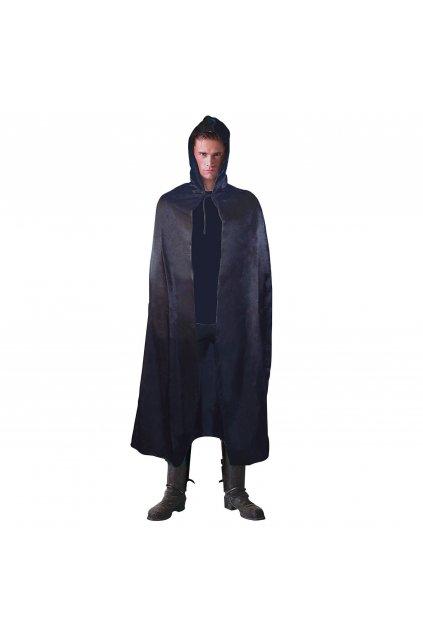 Černý plášť s kapucí